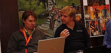 Sascha Postel und Stefan Bauer (v.l.) bei der Meet Magento 2.09