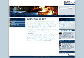 Screenshot Düker GmbH & Co.