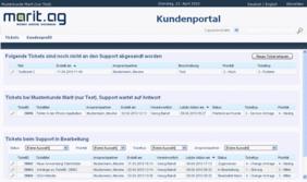 Screenshot Kundenportal