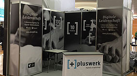 Messestand pluswerk IWM
