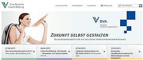 Screenshot Deutsche Versicherungsakademie