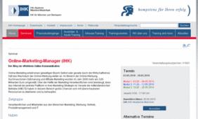 Screenshot Online-Marketing Manager IHK