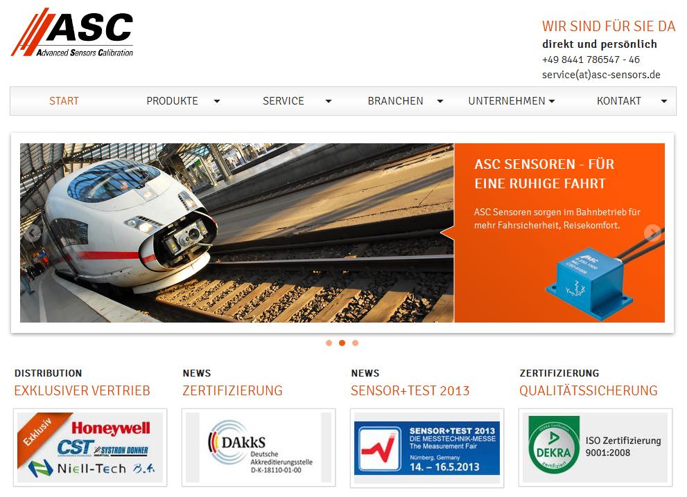 ASC Sensors Screenshot