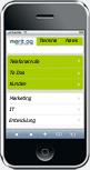 Screenshot Kundenportal iPhone