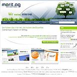 Screenshot Marit AG TYPO3 Website