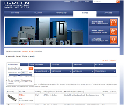 Screenshot Website Frizlen