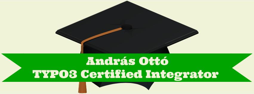 Zertifikat TYPO3 Certified Integrator von András Ottó