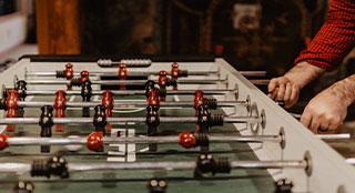 Bild eines Kickerspiels