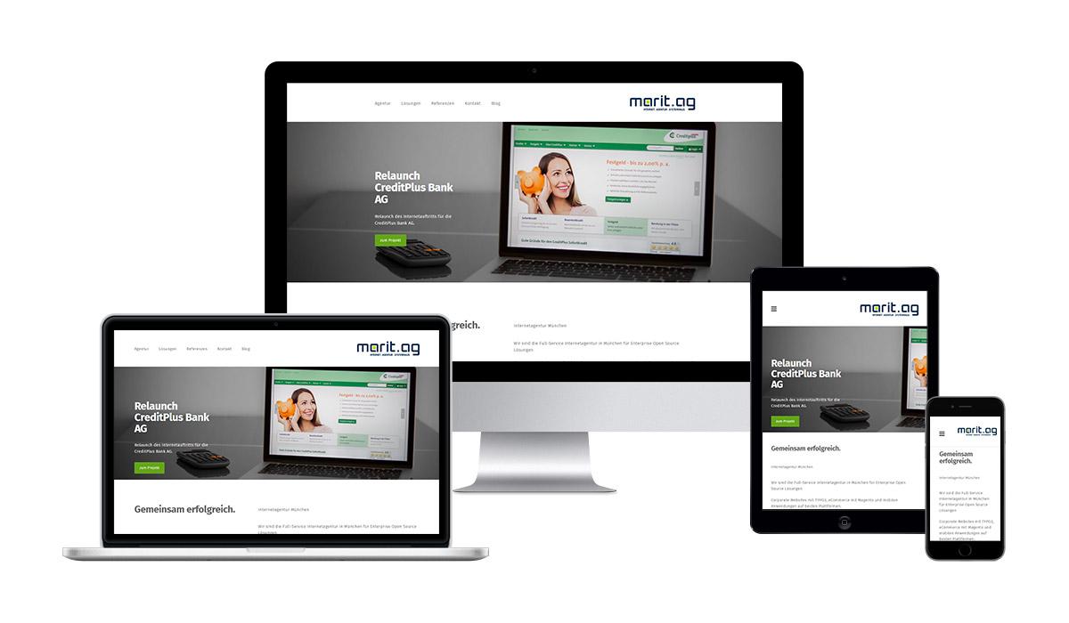 Responsive Webdesign Marit AG