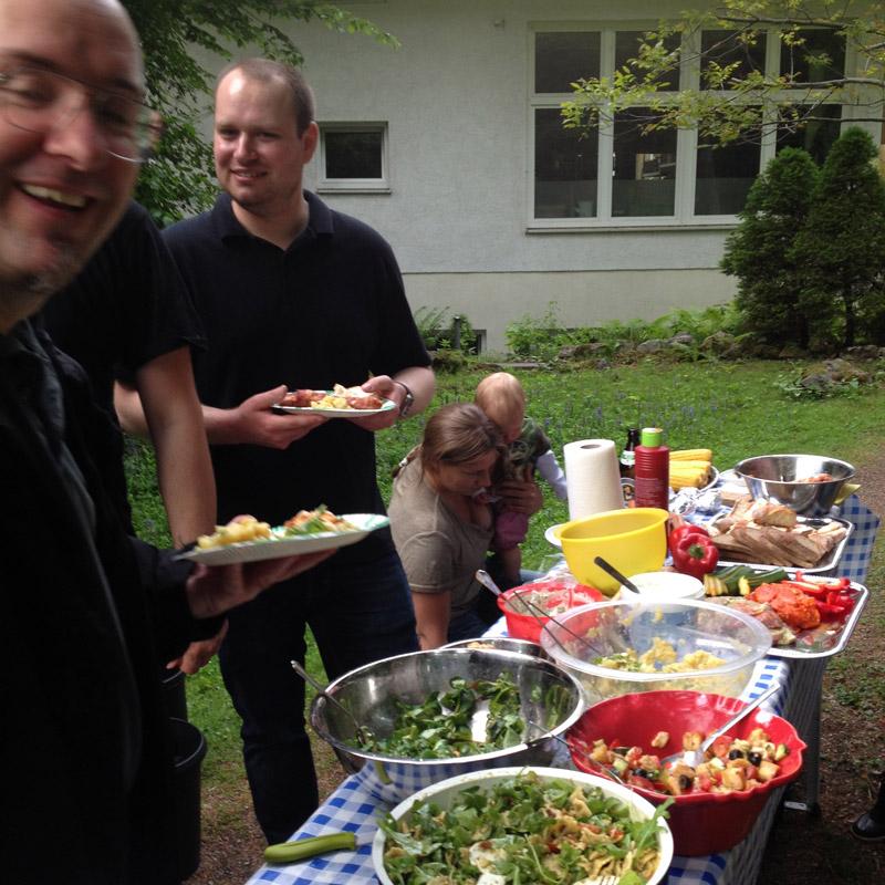 Viel Spaß gab's beim Grillfest der Marit AG