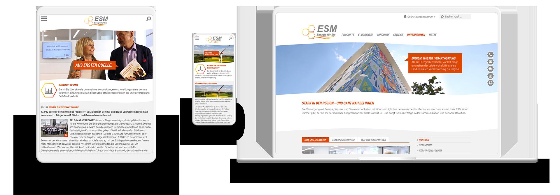 Screens der ESM-Website