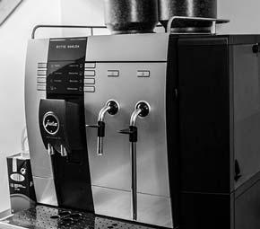leckerer Cappuccino von Bettina, um müde TYPO3 & Wordpress Entwickler wachzuhalten