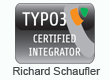 TYPO3 Certified Integratoer Richard Schaufler