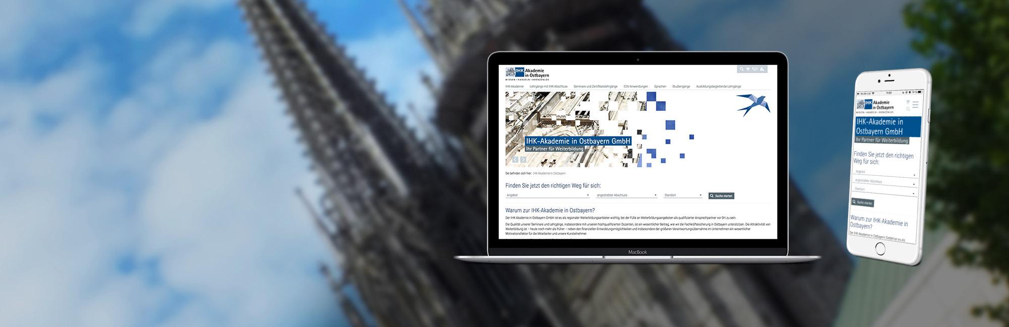 Neuer Webauftritt der IHK Akademie in Ostbayern
