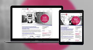 Die relaunchte Website von Lehmann&Voss.