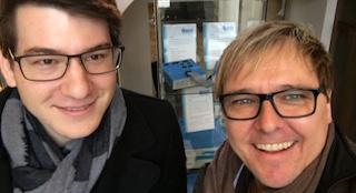 Die als TYPO3 Consultants zertifizierten Mitarbeiter Korbinian Kugelmann (l.) und Stefan Bauer