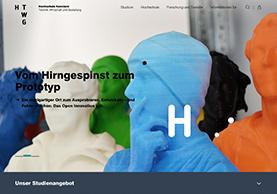 Website der Hochschule für Technik, Wirtschaft und Gestaltung