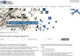 Website der IHK Akademie Oberbayern